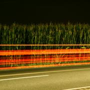 High speed car at night Stock Photos