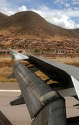 flight over cusco, andes, peru - stock photo