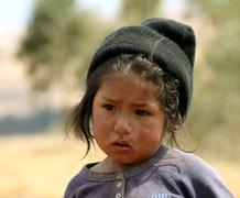 child in south america - stock photo