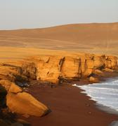 Red beach (paracas, peru) Stock Photos