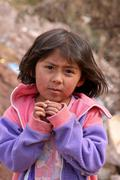 poor child, south america - stock photo