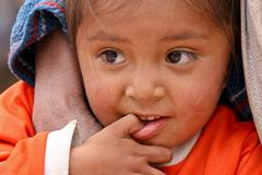 Poor child, south america Stock Photos