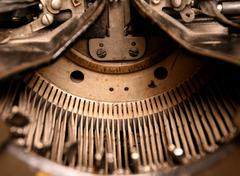 very old typewriter - stock photo