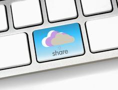 Share to cloud Stock Photos