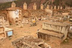 old cementery, southamerica - stock photo