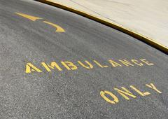 Stock Photo of Ambulance Road Markings