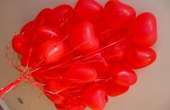 herz ballone - stock photo