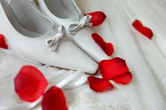 bridal shoes - stock photo