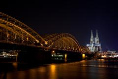 Cologne at night Stock Photos