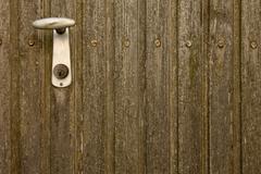 Handhold on door Stock Photos