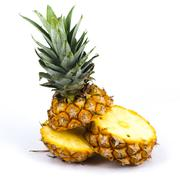 fresh sclie pineapple - stock photo