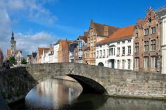 Brugge, medieval city in belgium Stock Photos