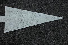 sign on asphalt - stock photo