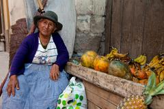 saleswoman, south america - stock photo