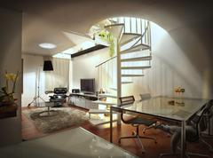 modern loft appartment - stock photo