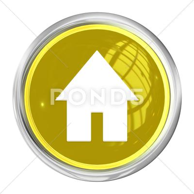Stock Illustration of web button home