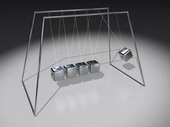 Newton pendulum cubes Stock Illustration