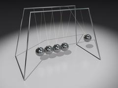 Newton pendulum spheres Stock Illustration