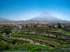 vulcan misti, arequipa, peru - stock photo