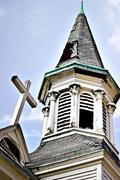 an abandoned Church - stock photo