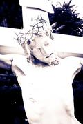 Statue of the crucifixion of Jesus Christ Stock Photos