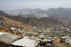 Shanty town, lima, peru Stock Photos