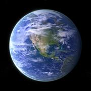 Planet earth - black Stock Photos