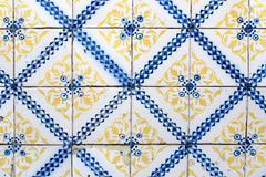 portuguese glazed tiles 036 - stock photo