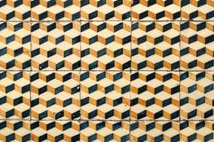 portuguese glazed tiles 033 - stock photo