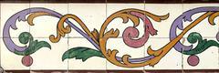 Portuguese glazed tiles 022 Stock Photos