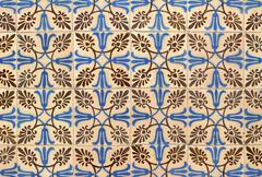 Portuguese glazed tiles 003 Stock Photos