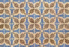 portuguese glazed tiles 003 - stock photo