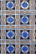 Portuguese glazed tiles 005 Stock Photos
