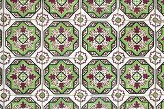 portuguese glazed tiles 046 - stock photo