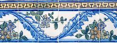 portuguese glazed tiles 056 - stock photo