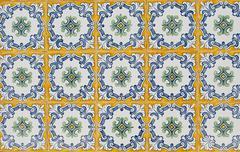 portuguese glazed tiles 063 - stock photo