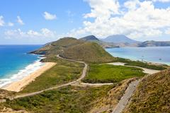 Panoramic view of st kitts Stock Photos