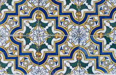 portuguese glazed tiles 077 - stock photo