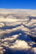 overhead view of storm clouds - stock photo