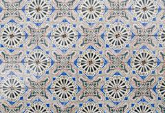 portuguese glazed tiles 089 - stock photo