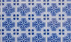 portuguese glazed tiles 097 - stock photo