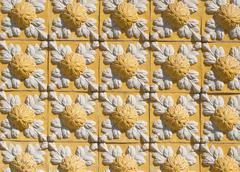portuguese glazed tiles 104 - stock photo