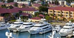 Yachts in st thomas Stock Photos