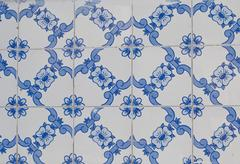 portuguese glazed tiles 118 - stock photo