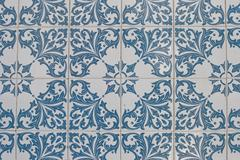 Stock Photo of portuguese glazed tiles 119