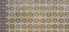 portuguese glazed tiles 120 - stock photo