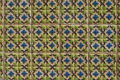portuguese glazed tiles 123 - stock photo