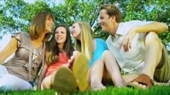 Happy Family Time Together Outdoors Stock Footage