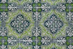 portuguese glazed tiles 136 - stock photo