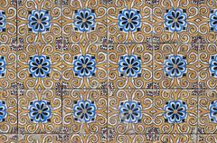 portuguese glazed tiles 134 - stock photo